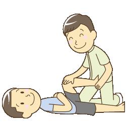淡路市中田でスポーツのケガを治療している人
