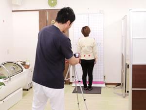 淡路市中田こぐり整骨院の検査風景